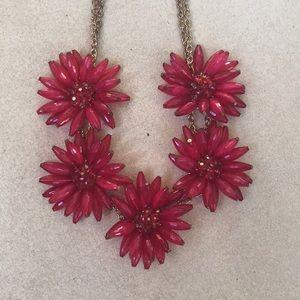 ✨SALE✨ FRANCESCA'S | Red Beaded Flower Necklace